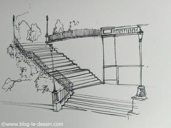 dessiner des escaliers en perspective