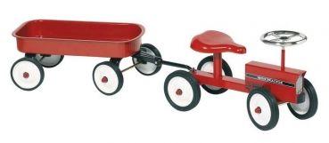 Traktor mit Anhänger - Rutscher