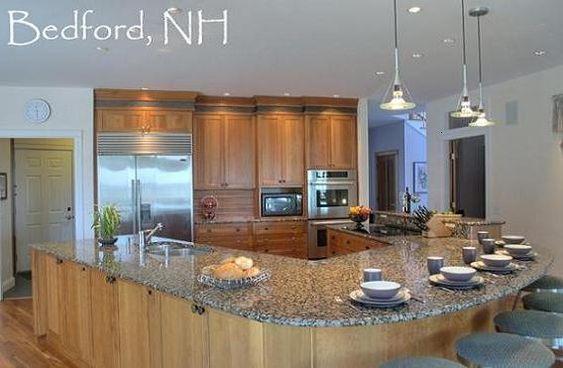 U shaped kitchen island modern kitchen pinterest - U shaped kitchen designs with island ...