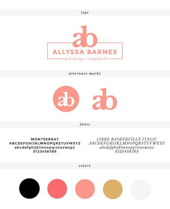 New branding for http://allyssabarnes.com