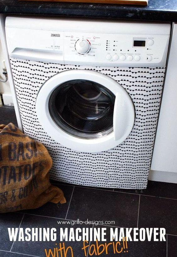 Waschmaschine Verjüngungskur mit Stoff, Haushaltsgeräte, Serviettentechnik, wie man, Waschküchen