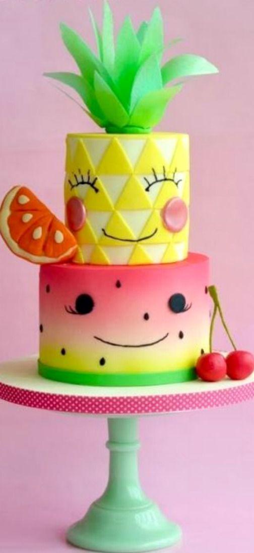 Tutti Frutti Cake Fruit Birthday Fruit Birthday Party Summer