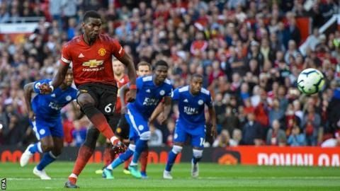 Paul Pogba Scores As Man Utd Beat Leicester 2 1 Jose Fulham In 2020 Paul Pogba Manchester United Manchester United Champions League Manchester United Premier League