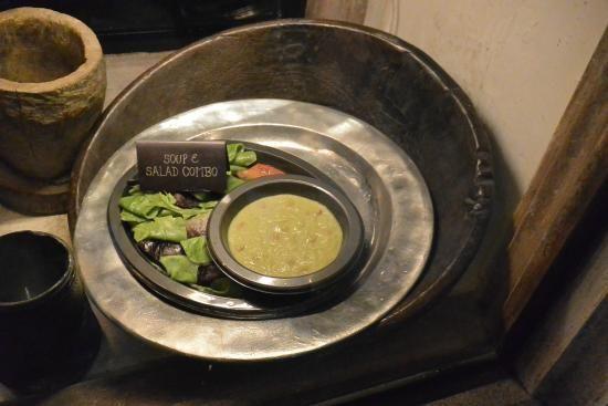 Soup and salad at The Leaky Cauldron at Universal Studios
