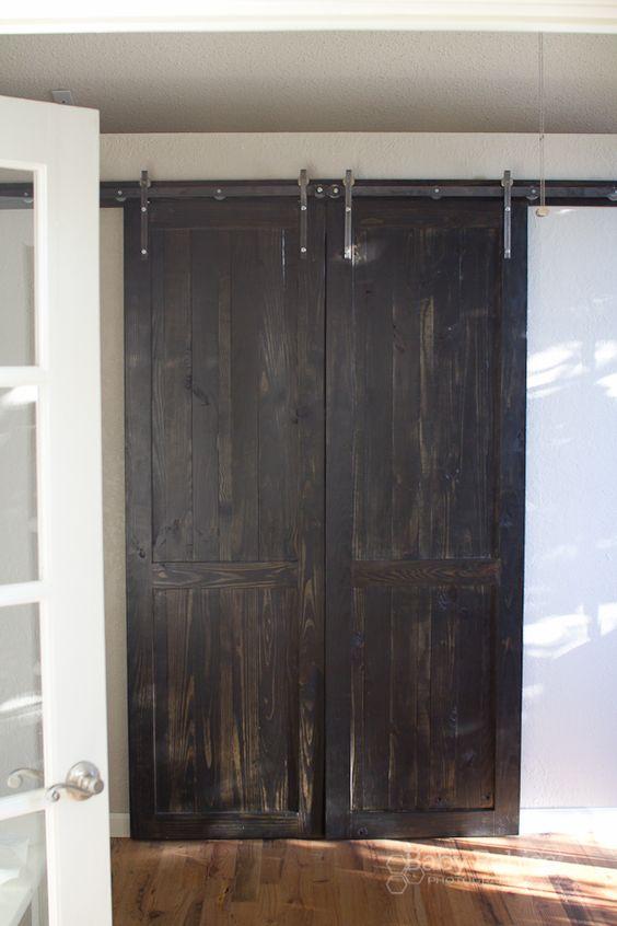 Pinterest the world s catalog of ideas - How to make an interior sliding barn door ...