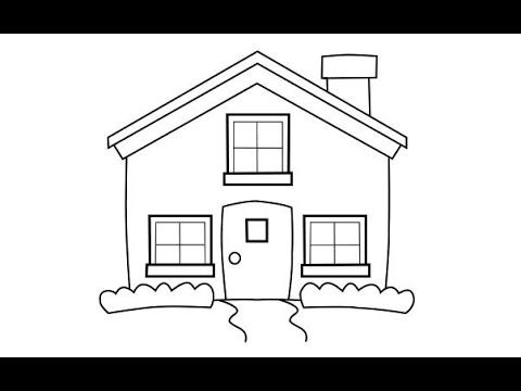 رسم بيت جميل للأطفال تعليم الرسم للأطفال رسم منزل سهل للأطفال Home Decor Home Decor Decals Decor