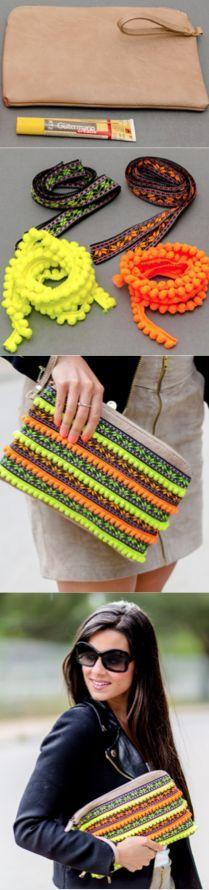 DIY Crimenes de la Moda - Neon handbag - Bolso de mano flúor:
