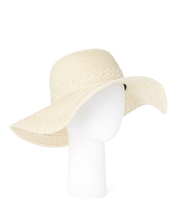 Another great find on #zulily! Beige Braid-Accent Sun Hat by Belle Pink #zulilyfinds