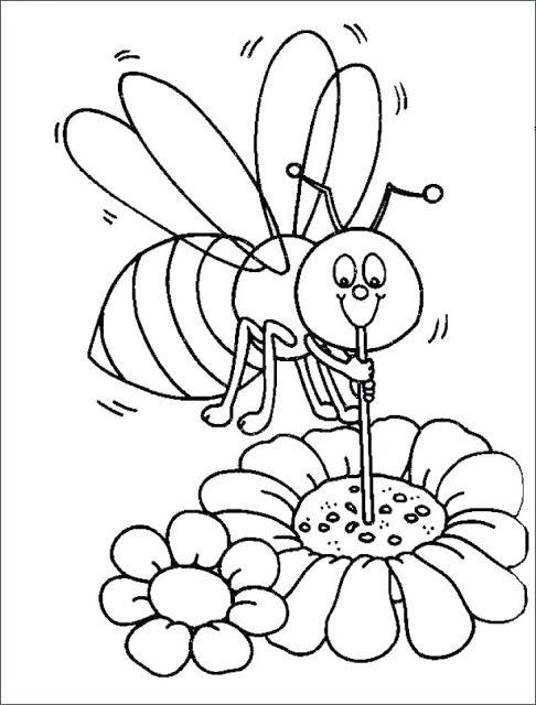 صورة نحلة للتلوين للاطفال Bee Coloring Pages Cute Coloring Pages Animal Coloring Pages