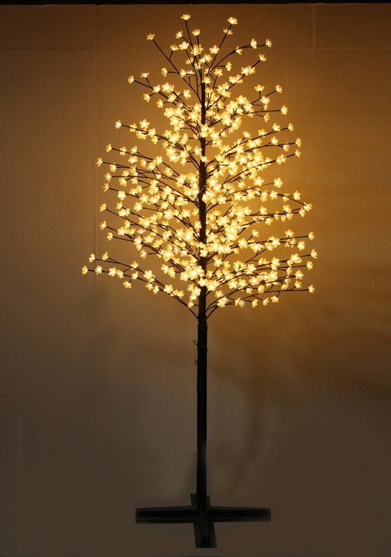 Outdoor Cherry Blossom Tree With Flowers And 488 Led Lights Cherry Blossom Light Tree Blossom Trees Cherry Blossom Tree