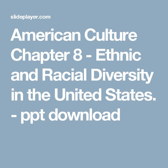 Understanding cultural diversity in the united