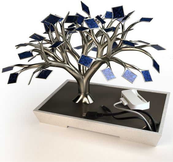 Universal & usb solar-cell tree charger.