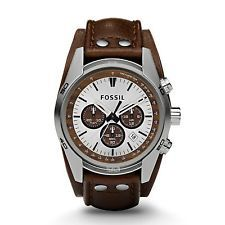 Fossil CH2565 #TanWhite Dial Brown Leather Strap Men Watch *Premium Package* US $89.50 New with tags in Jewelry & Watches, Watches, Wristwatches http://ebay.to/1N7nNXk