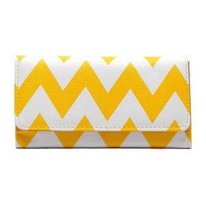 Image of Yellow Chevron Wallet