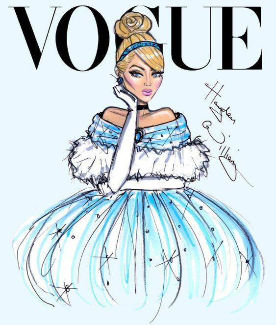 Disney Divas by Hayden Williams for Vogue, Cinderella from Cinderella #cinderella #disneyprincess: