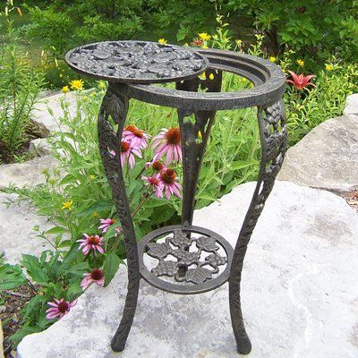 Oakland Living Rochester Metal Side Table Plant Stands Outdoor Oakland Living Iron Plant Stand