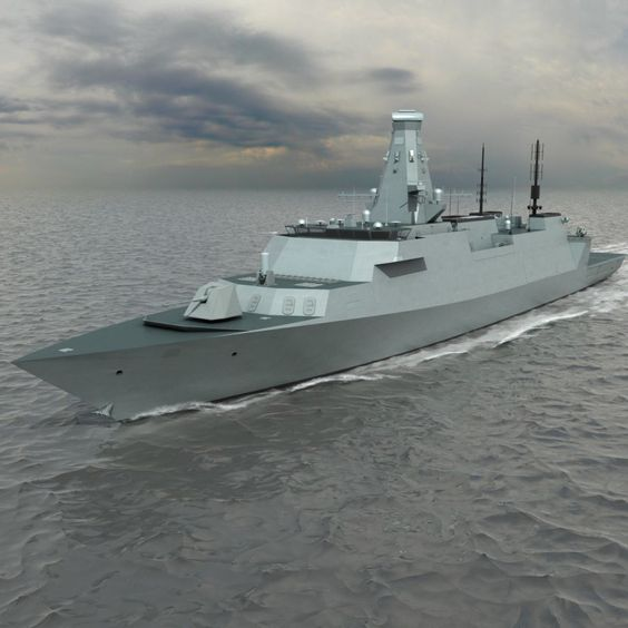 The latest design of the @RoyalNavy's Type 26 Global Combat Ship, has been unveiled today by the MOD