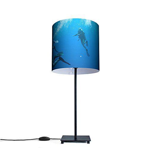 Ausgefallene Design Tischleuchte mit Motiv: Taucher - http://led-beleuchtung-lampen.de/ausgefallene-design-tischleuchte-mit-motiv-taucher/ #AusgefalleneDesign
