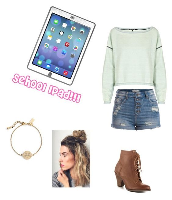 """""""my school gave all the students iPads!!"""" by ponyboysgirlfriend ❤ liked on Polyvore featuring OtterBox, rag & bone, Pieces, Mojo Moxy and Kate Spade"""