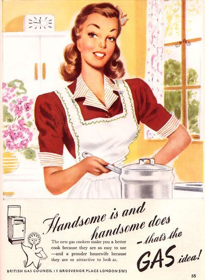 50 39 s vintage advertisements at 08 44 am in vintage for Classic housewife
