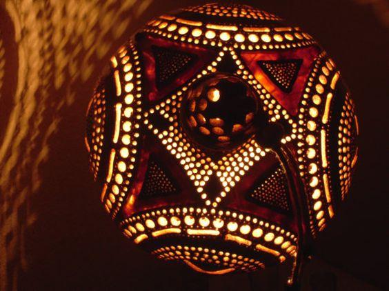 100% HANDMADE Gourd lamp  Kürbislampe by GOURDARTISTANBUL on Etsy