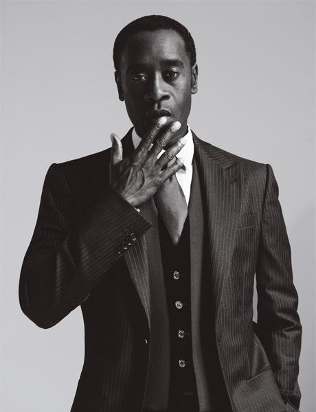 "Love a man that can hang a suit. Pinstripes?!? ""The Don"" Don Cheadle does it nicely..."
