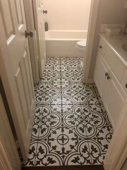 Merola Tile Arte White Encaustic 9 3 4 In X 9 3 4 In Porcelain Floor And Wall Tile 11 11 Sq Ft Case Fcd10arw The Home Depot In 2020 Vinyl Flooring Bathroom Kid Bathroom Decor Porcelain Flooring
