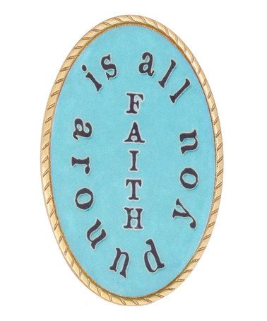 Take a look at this Black & Turquoise 'Faith' Wrist Medallion on #zulily