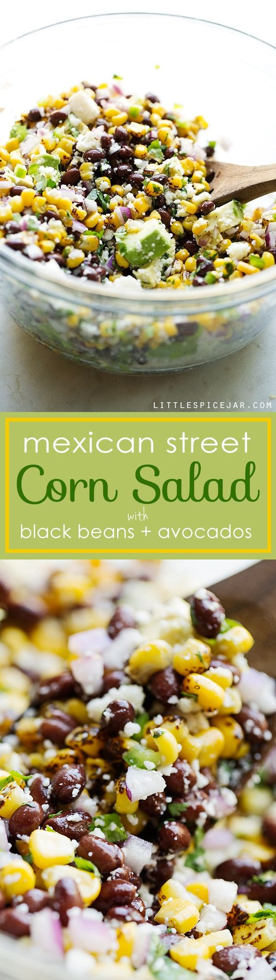 Mexican Street Corn Salad - The perfect summer corn salad with lots of fresh ingredients tossed in a light homemade dressing!