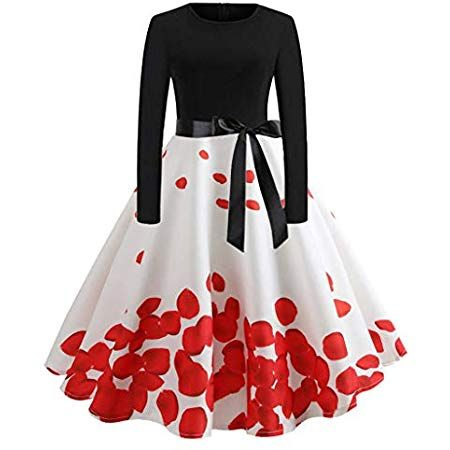 Vectry Vintage Kleid 1950er Vintage Kleid Damen Vintage Kleid Vintage Kleid Damen Kleid Vintage Vintage 50er Jahr Kleider Damen Kleider Fur Frauen Vintagekleid