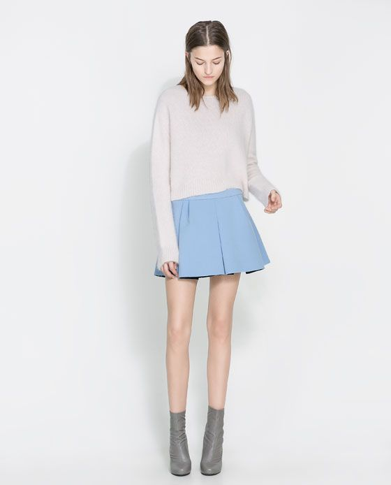 Image 1 of PLEATED MINI SKIRT from Zara | Style | Pinterest ...