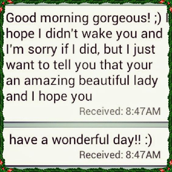 Sweet Good Morning Texts for Her | Cute Instagram Quotes ...