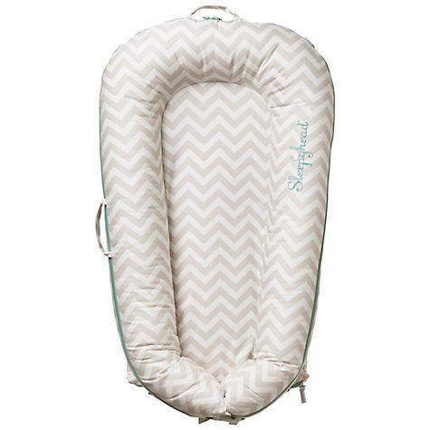 Buy Sleepyhead Deluxe Portable Baby Pod, Chevron, 0-8 months Online at johnlewis.com