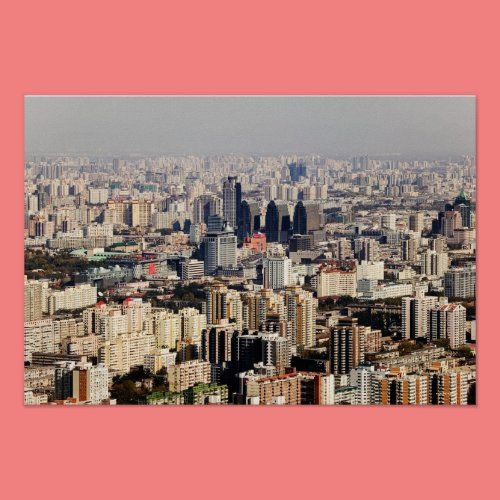 Elevated Beijing Cityscape Poster Zazzle Com Landscape Photography Urban Cityscape Poster