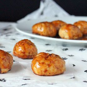 Sweet Potato Doughnut bites topped with Chai Spice caramel. (baked ...