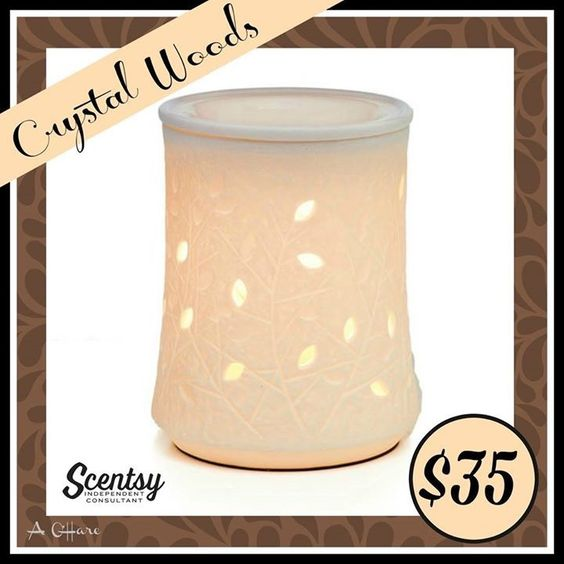 """Scentsy """"Crystal Woods"""" wax warmer new for fall and winter 2016 #wickless #candles #scentsbykris"""