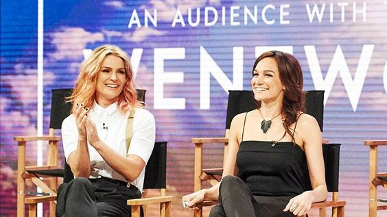 "Danielle Cormack & Nicole da Silva at ""An audience with the cast of Wentworth.  Love Danielle's style here."