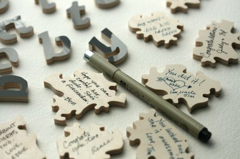 Have guests sign a keepsake puzzle instead of a guest book.