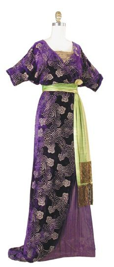 Japonisme in Fashion - Evening Gown Lucile 1910
