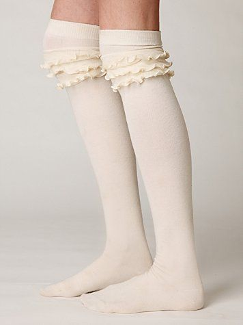 Boot socks with ruffles!  I need these.