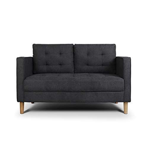 Amazon Aodailihb Modern Soft Cloth Tufted Cushion Loveseat Sofa Small Space Configurable Couch Dark Grey 189 Sofas For Small Spaces Small Sofa Loveseat Sofa