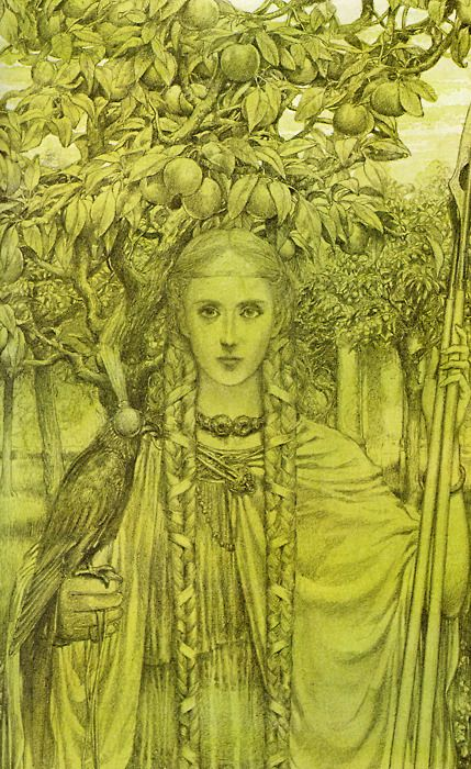 Faeries | Alan Lee Illustration. There's a connection to the other world, where the Sidhe are.