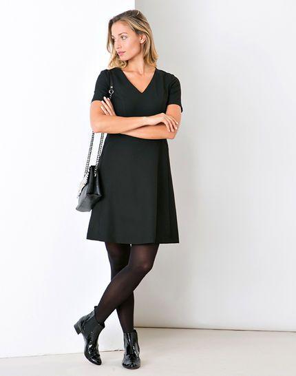 Robe noire trapèze Dalys