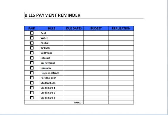 Bills Payment Schedule Template can act as a guide in schedule - consumer complaint form