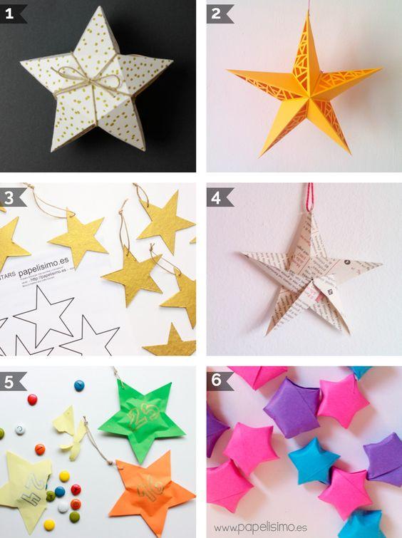 Estrella de navidad manualidades christmas stars - Estrellas de papel para navidad ...