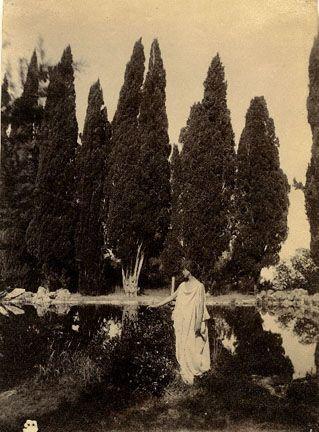 Villa Falconieri, Frascati Italy, ca. 1890. Wilhelm von Pluschow.