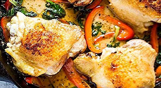 طريقة عمل دجاج مقلي بالكريمة مع الفلفل الأحمر والخضر Food Chicken Meat