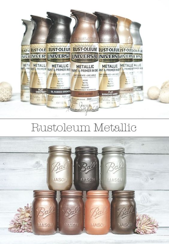 Rust oleum metallic spray paints jars paint colors and jars decor Metallic spray paint colors
