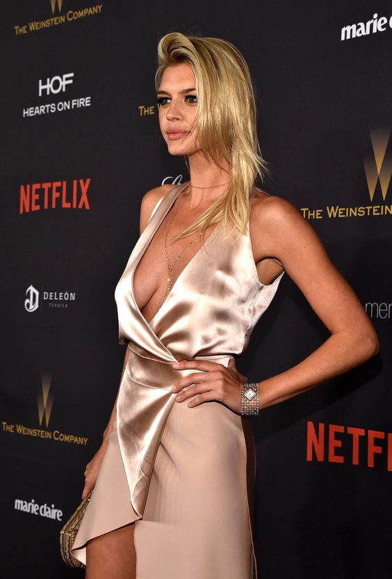 Kelly Rohrbach at the Weinstein Co. and Netflix Golden Globes after party