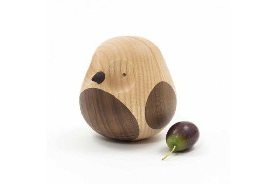 Holzvogel Eule Esche